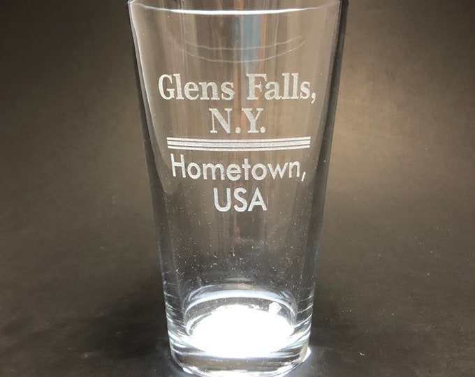 Glens Falls Hometown USA - Pint Glass - Glens Falls New York