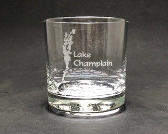 Lake Champlain - Etched 10.25 oz Rocks Glass