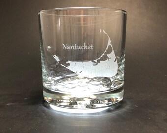 Nantucket - Etched 10.25 oz Rocks Glass