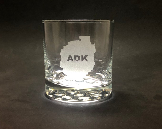 Adirondack Park - Etched 10.25 oz Rocks Glass - Adirondacks