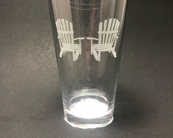 Adirondack Chairs - Etched Pint Glass