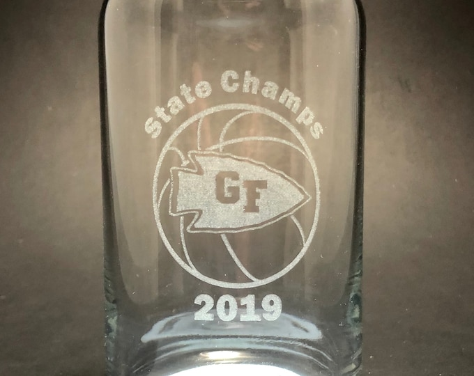 Glens Falls High School 2019 High School Championship Can Glass