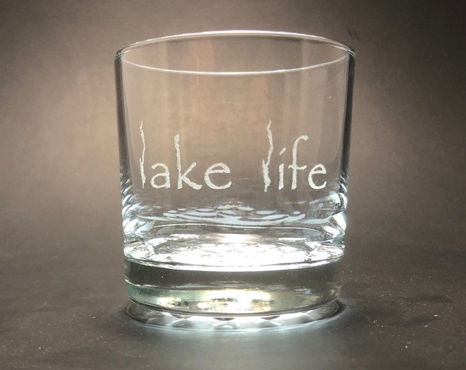 Lake George Lake Life  - Etched 10.25 oz Rocks Glass
