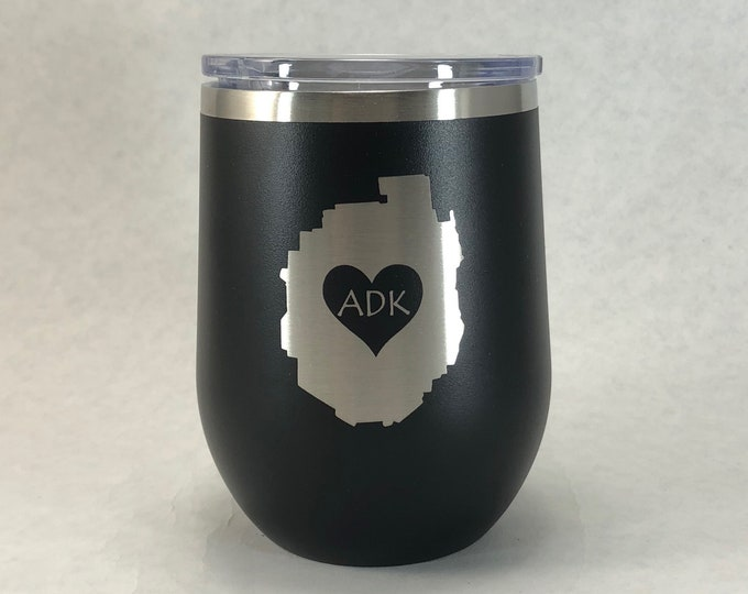 Adirondack Park love -   - 12 oz Polar Stemless Wine