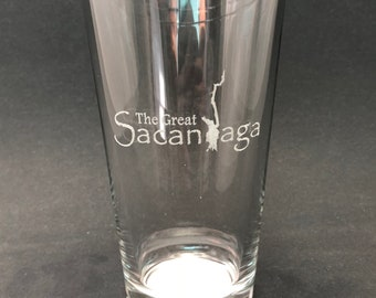 Set of 2 The Great Sacandaga - Etched Pint Glass