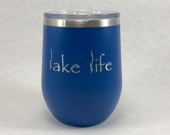 Lake George Lake Life 12 oz Polar Stemless Wine