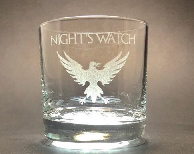 NIGHT'S WATCH - Etched 10.25 oz Rocks Glass - Game of Thrones