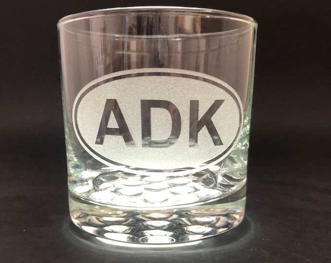 ADK Euro Style - Etched 10.25 oz Rocks Glass - Adirondack Park