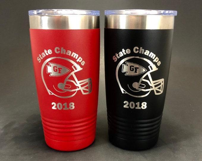 Glens Falls State Football Champs - 20 oz Polar Tumbler