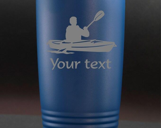Kayaker - Custom Male - 20 oz Polar Tumbler - Insulated Tumbler