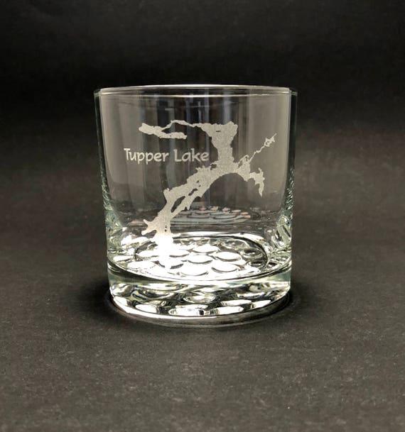 Tupper Lake - Etched 10.25 oz Rocks Glass - Tupper Lake New York