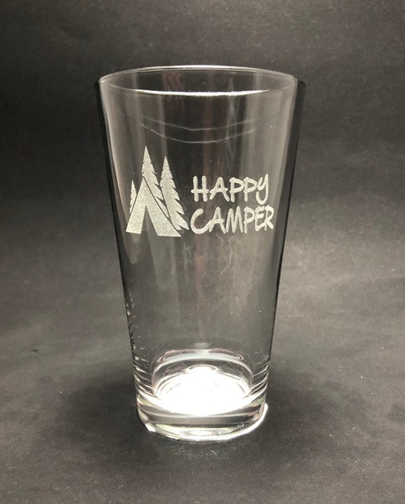 Happy Camper - Etched Pint Glass