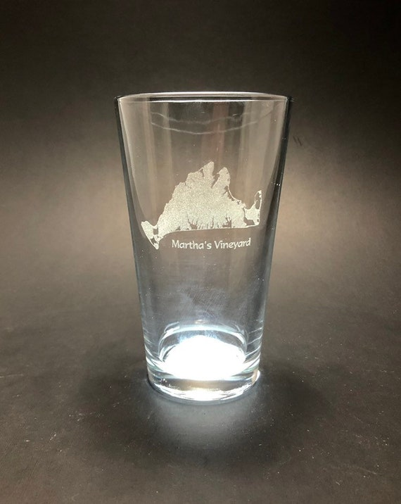 Martha's Vineyard - Etched Pint Glass