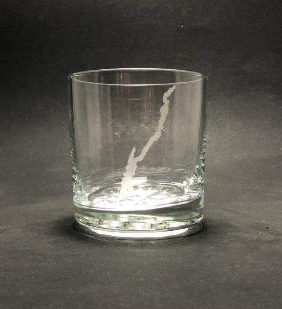 Lake George - Etched 10.25 oz Rocks Glass