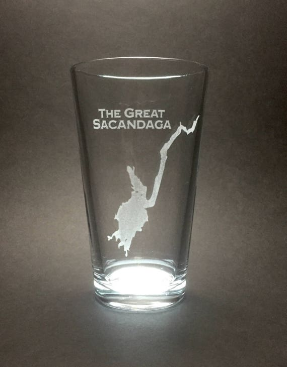 Set of 4 The Great Sacandaga - Etched Pint Glass