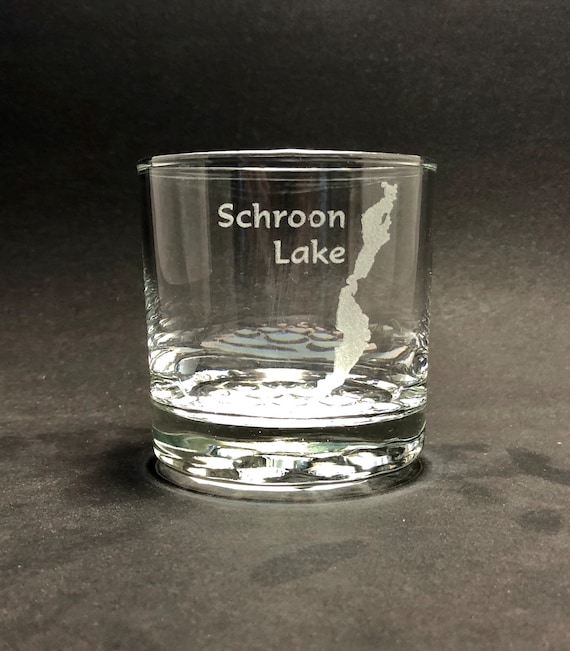 Schroon Lake - Etched 10.25 oz Rocks Glass - Schroon Lake  New York