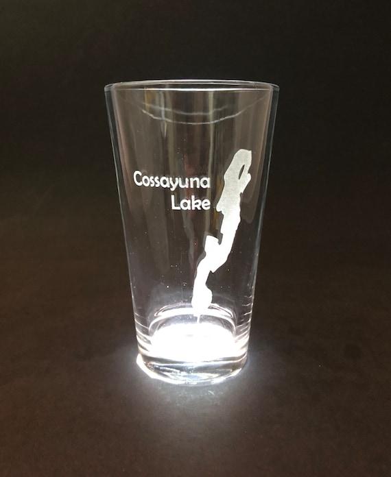 Set of 2 Cossayuna Lake - Etched Pint Glass