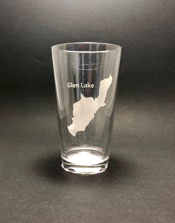 Glen lake - Etched Pint Glass - Glen Lake New York