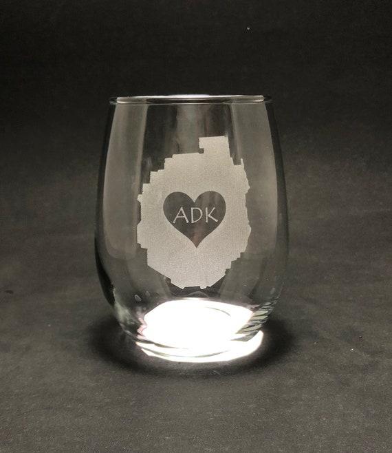 Adirondack Park love 15 oz Stemless Wine Glass