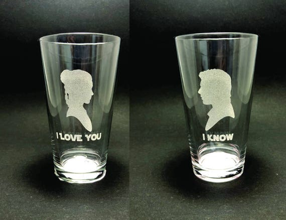 I Love You/I Know - Star Wars - Set of 2 Pint Glasses