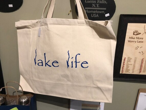Lake George Lake Life - Jumbo Cotton Twill Beach Bag