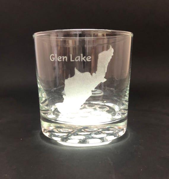 Glen Lake - Etched 10.25 oz Rocks Glass - Glen Lake New York