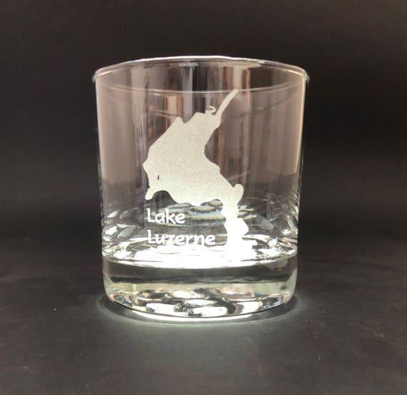 Lake Luzerne - Etched 10.25 oz Rocks Glass - Lake Luzerne New York