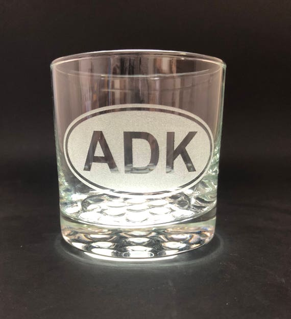 ADK Euro Style - Etched 10.25 oz Rocks Glass - Adirondack Park