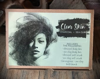 Acne Care Gift Set - Gift Set - Acne - Charcoal - Sea Clay