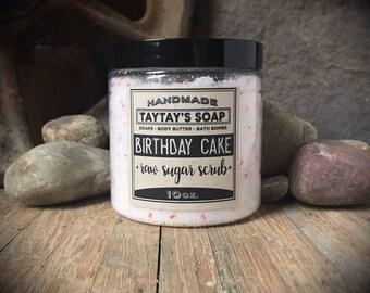 Birthday Cake Sugar Scrub - Sugar Scrub - Body Scrub -Scrub - TayTaysSoap - Birthday Gift