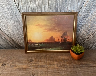The Giclee Print of an original mixed media painting Sea Sovereign