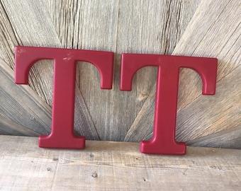 Vintage Salvage Letters Vintage Lot of Three Large Plastic Letters T O O