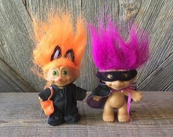 "KITTEN HALLOWEEN TRICK OR TREATING CAT NEW IN WRAPPER 3/"" Russ Troll Doll"
