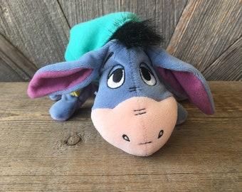 44eab1bc13b Vintage Eeyore Pooh Bean Baby  Sleepy Hat Mattel Star Bean Donkey Winnie 7  inch Mini Bean Bag  The Disney Store Stuffed Animals Toys