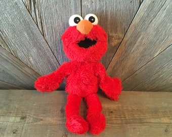 a3d52151951 Vintage Elmo Plush Toy Doll  Stuffed Sesame Street Plush Toys Applause  1993  Red Stuffed Animal 90s Toy Nursery Baby Shower Muppet Puppet