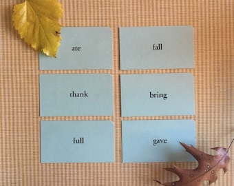 All 6 Thanksgiving Ephemera Vintage Children's Speech Cards {Can be used for Place Cards, Scrapbooking} Bring, Ate, Thank, Fall, Full, Gave
