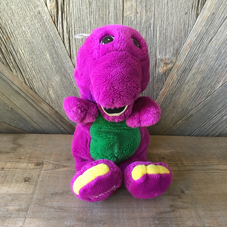 Barney Vintage Plush Toy Puppet 15 Inch Stuffed Animal Etsy