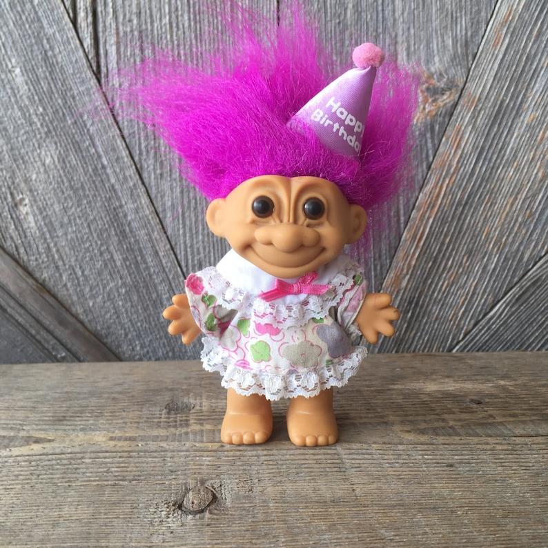 48d01863 Vintage Birthday Troll Doll Happy Birthday with Party Hat | Etsy