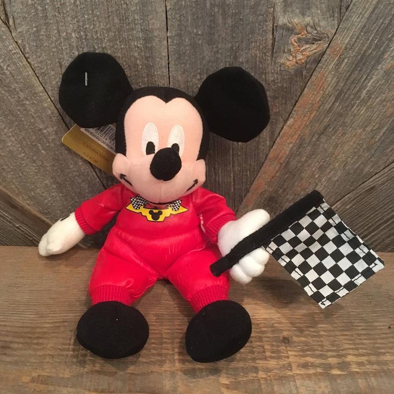 0cb35f1a174 Vintage Mickey Mouse Beanie Babies Nascar Race Flag Mickey 8