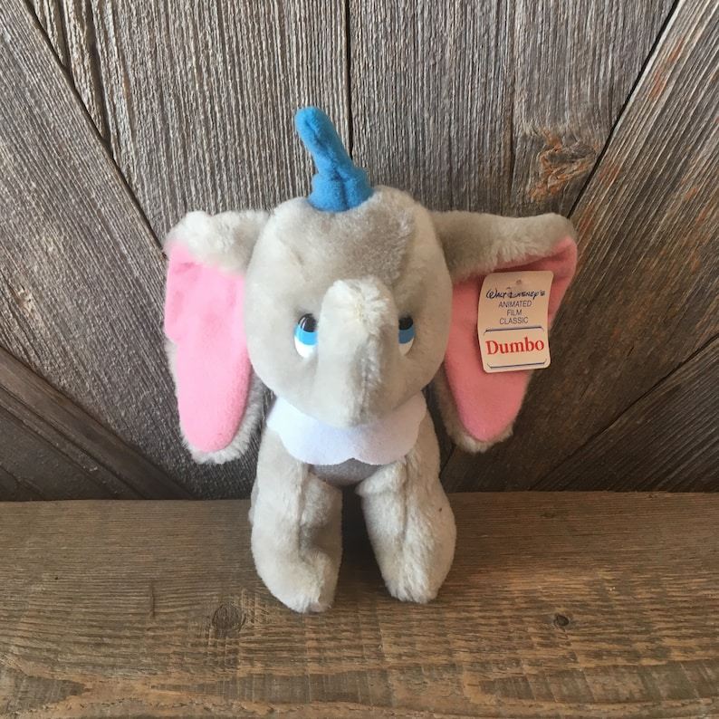 "8/"" Stuffed animal Disney Store Bean Bag Plush Elephant Dumbo Beanie Baby"
