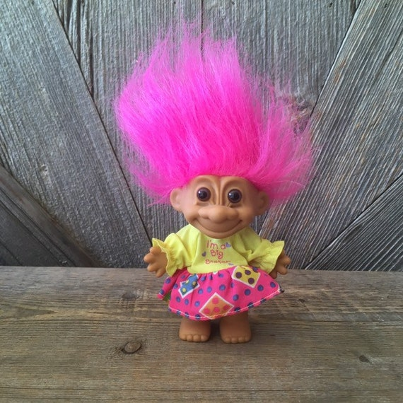 "5/"" RUSS TROLL DOLL NEW IN ORIGINAL WRAPPER GIRL IN STAR PARTY DRESS"