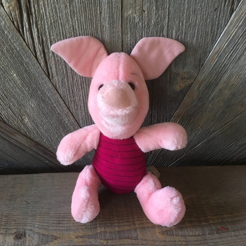 18f473fb0231 Vintage Piglet Winnie the Pooh Stuffed Pooh Toy Disnleyland