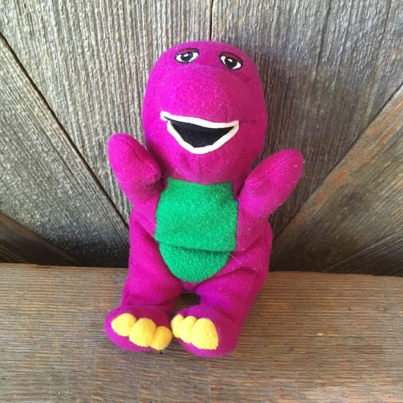 Barney Vintage Plush Toy Small 6 Inch Stuffed Animal Etsy