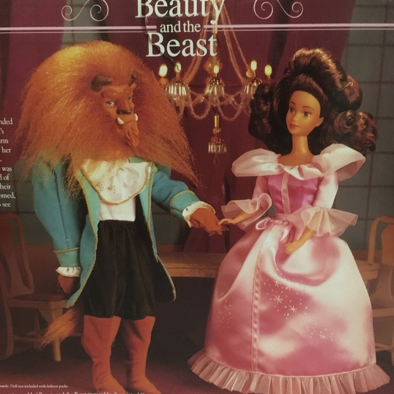 Dolls & Bears beast And Beauty Disney Vintage Beauty And The Beast Dolls