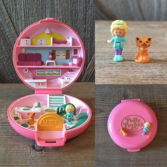 Vintage Round Polly Pocket Button S Animal Hospital Etsy