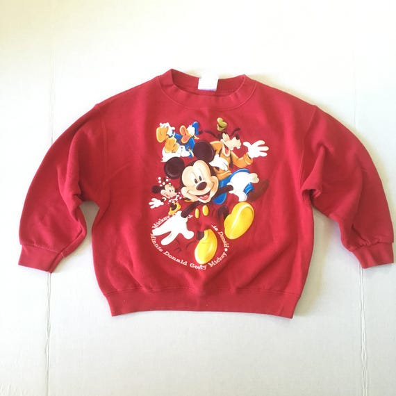7e789e49 Vintage Disney Kids Shirt Mickey Mouse Goofy Donald Duck | Etsy