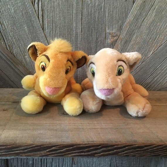 Vintage Lion King Plush Toys Simba And Nala 14 Inch Kissing Etsy