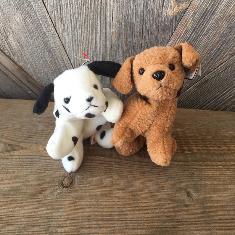 2 Vintage Dog Beanie Babies Ty Dotty Tuffy Dog Puppy Terrier  aa8d536c34b8