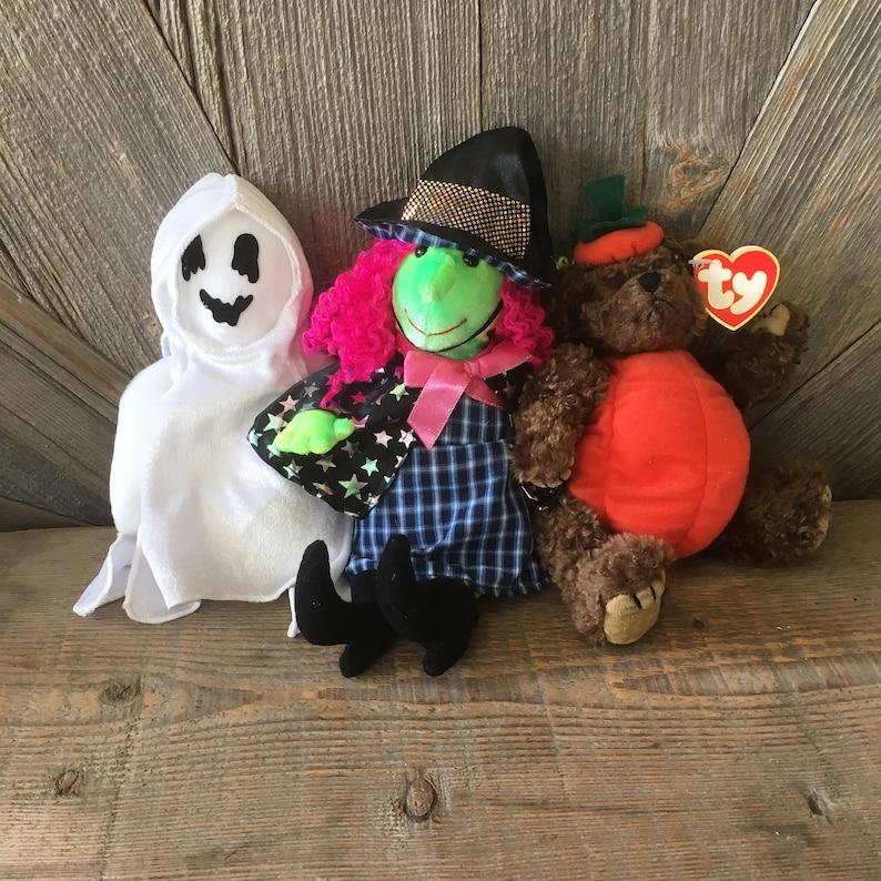 7ee63280df5 3 Halloween Beanie Babies Decoration Plush Toys Vintage