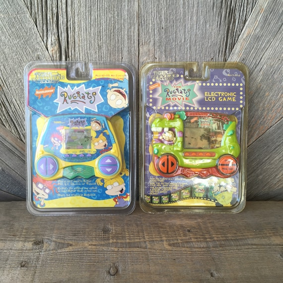Vintage Rugrats Electronic LCD Game Video Game Boy 90s Toy Nickelodeon Baby  Cartoon Tiger Electronics 1998 Viacom Dolls Action Figures Toys